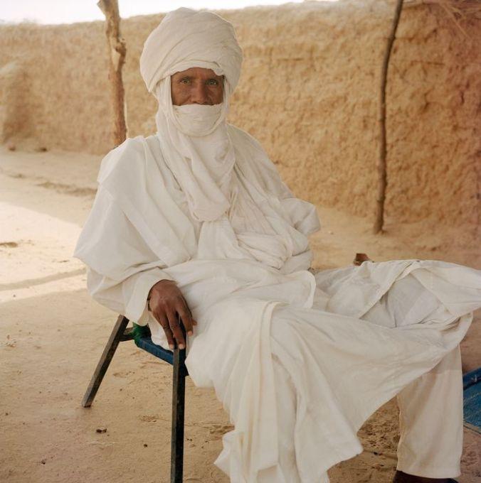 NIGER. Tajae. Tuareg chieftan Ibrahim Agali in the Tuareg palace. 2005.