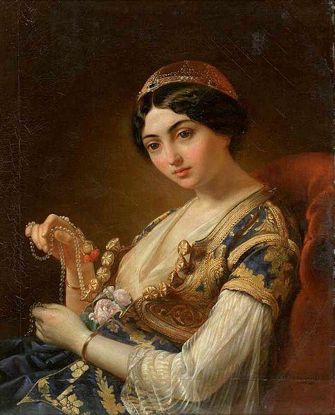 Władysław_Niewiarowicz_-_The_Moor_with_the_Beads_1853